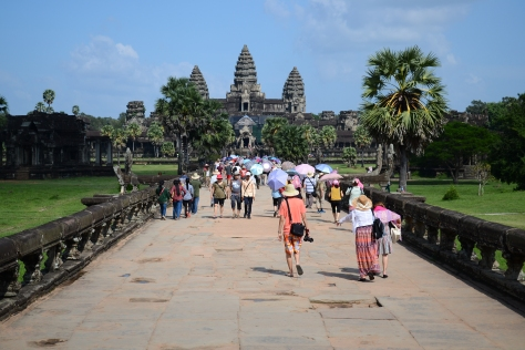 Tourists d'Angkor
