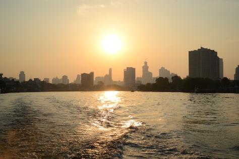 Chaophraya River sunrise, Bangkok