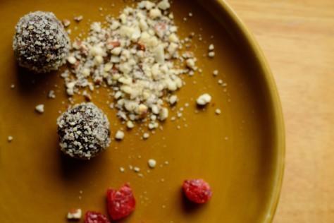 raw cacao coconut truffles