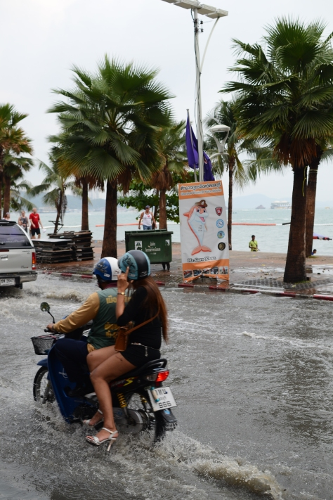 Pattaya flood, Thailand