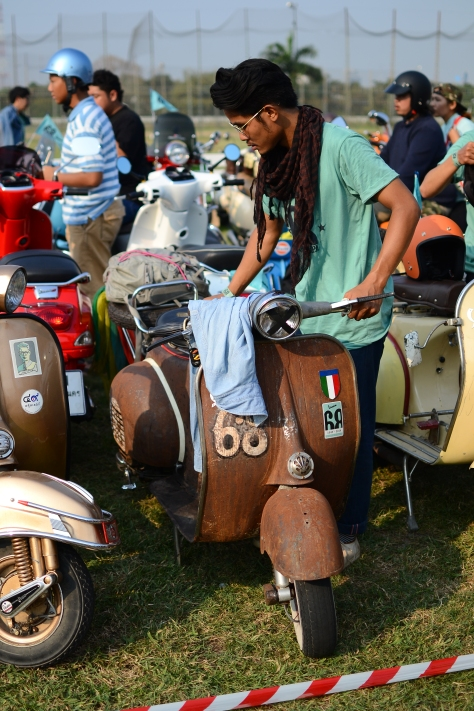 68 years of Vespa festival Bangkok, Thailand