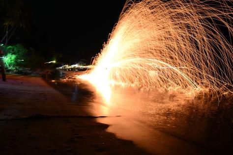 Koh Tao, fire show
