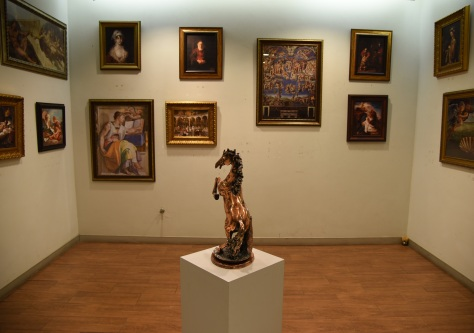 An art exhibition in the main lobby of Asavanant.