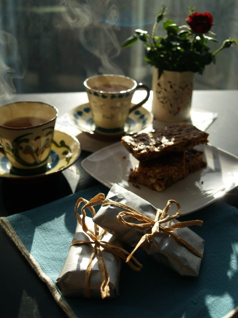A beautiful morning enjoying home-baking and a nice cup of tea