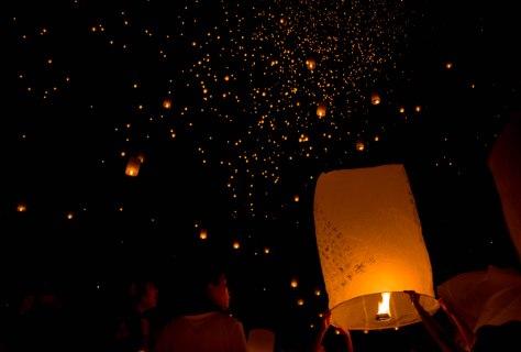 Maejo Lantern festival Chiang Mai