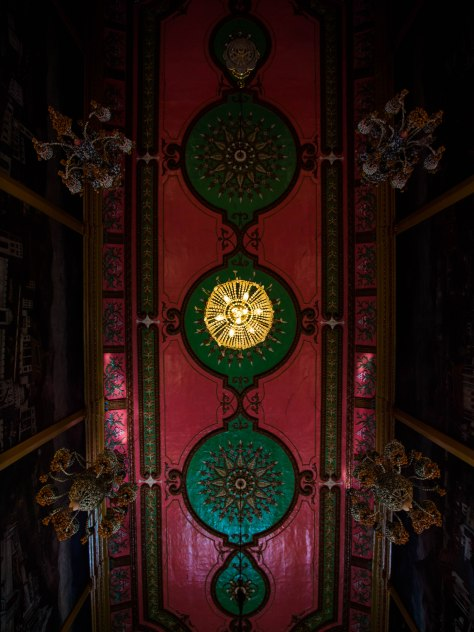 Beautiful ceiling in one of the temples on the island