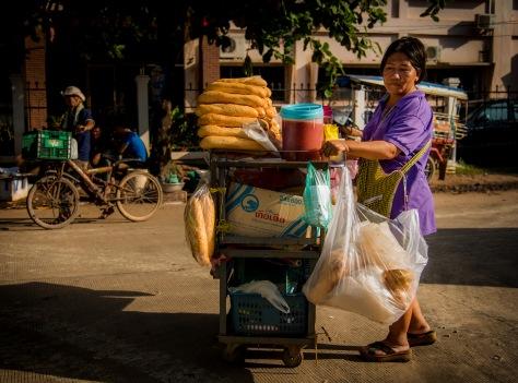 Vientiane Laos vegetarian street food