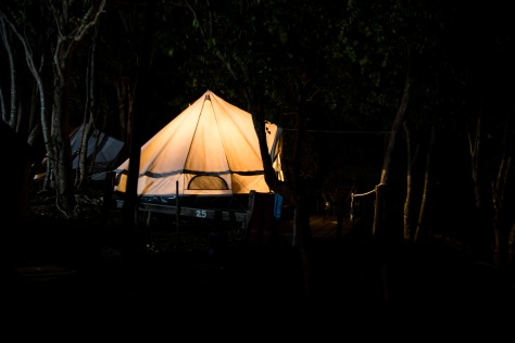 First night in the tent – success!